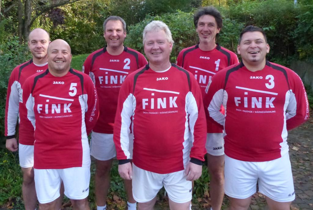 Verbandsliga Männer 35 v.h.l.: Markus Malyk, Uwe Schmidt, Holger Jungclaussen, v.v.l.: Andreas Müller, Volker Schäfer, Marcus Morlock